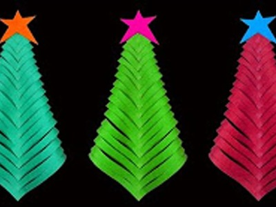 Christmas Crafts : How To Make A Simple and Beautiful Paper Christmas Tree