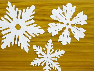 Christmas Decoration Idea at Home - Paper Snowflake DIY