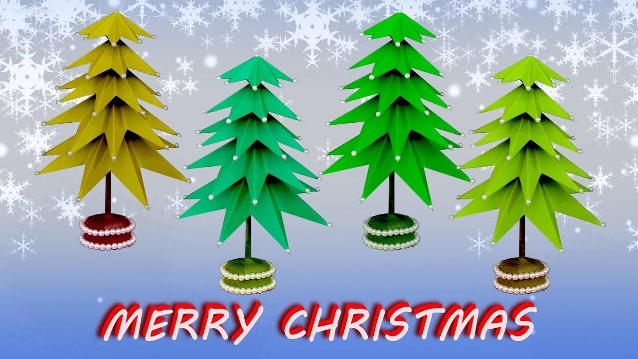 diy 3d paper beautiful christmas tree xmas decor how to