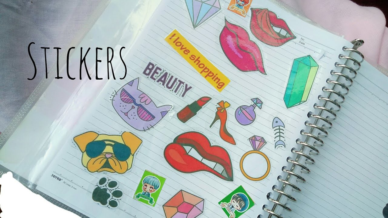 Diy stickers without stickers paper how to make stickers