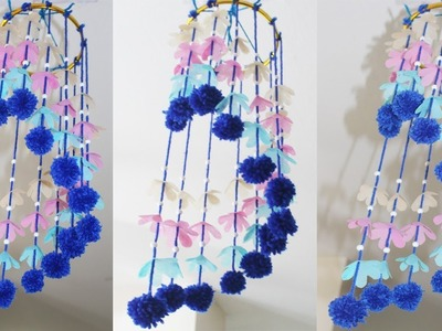 DIY Wind Chimes - How To Make Wind Chimes At Home - Making Wind Chimes Using Woolen -Room Decoration