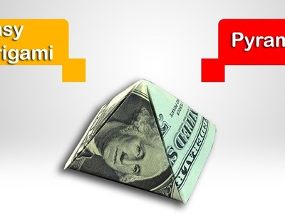 Fold a $1 Dollar Pyramid - Bill Origami Gifts - How to Make a Pyramid