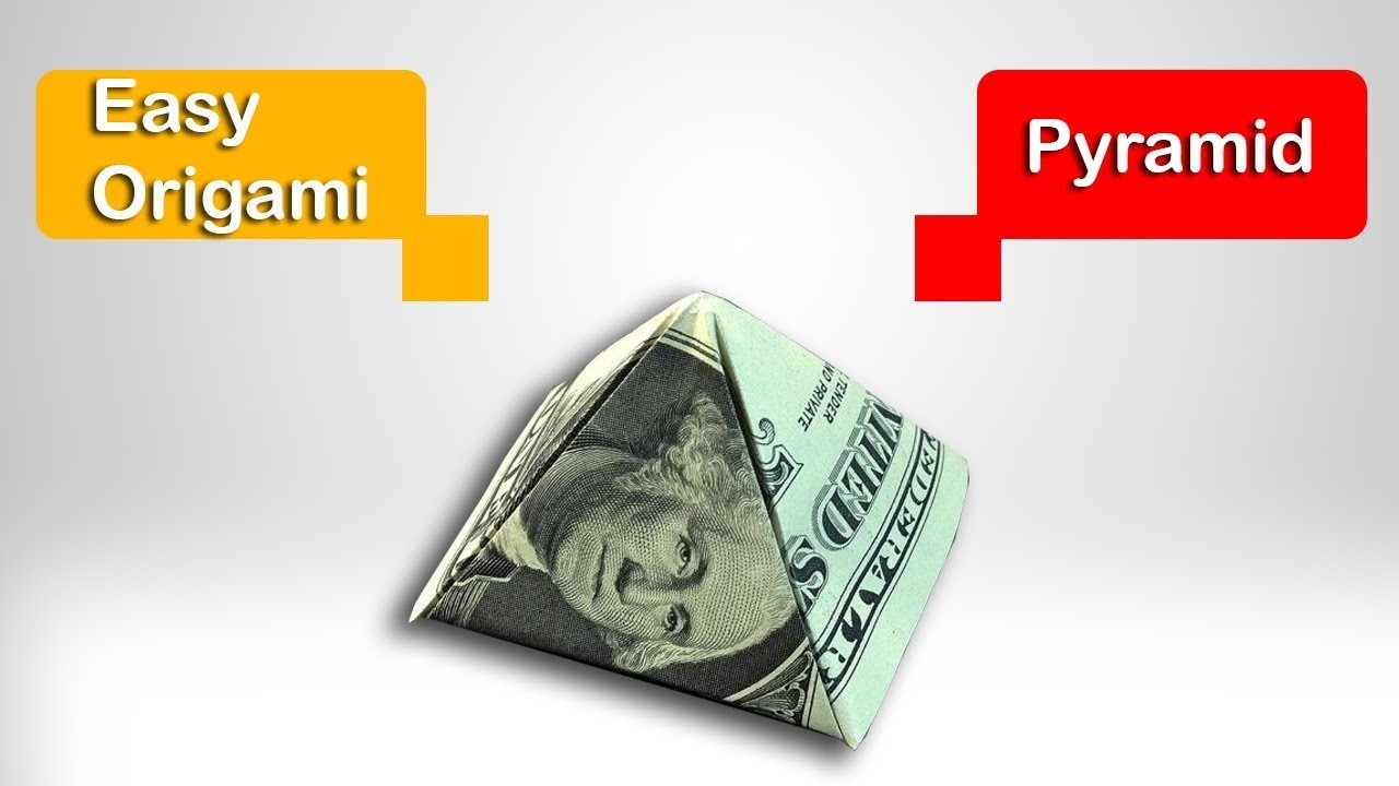 Fold a $1 Dollar Pyramid - Bill Origami Gifts - How to Make a Pyramid