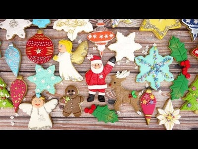 How To Decorate A Christmas Tree Cookie With Sugarpaste & Sprinkles