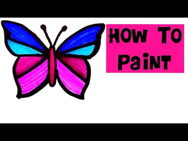 How To Draw Painting Butterfly For Kids Easy Tutorial Drawing Step