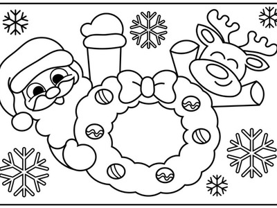 How to Draw Santa and Reindeer for Kids | Santa Coloring Pages for Kids| Fun Coloring Pages for Kids