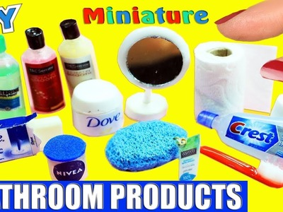 How to Make 100% Real Working Miniature Bath. Bathroom  Accessories - 10 Easy DIY Doll Crafts