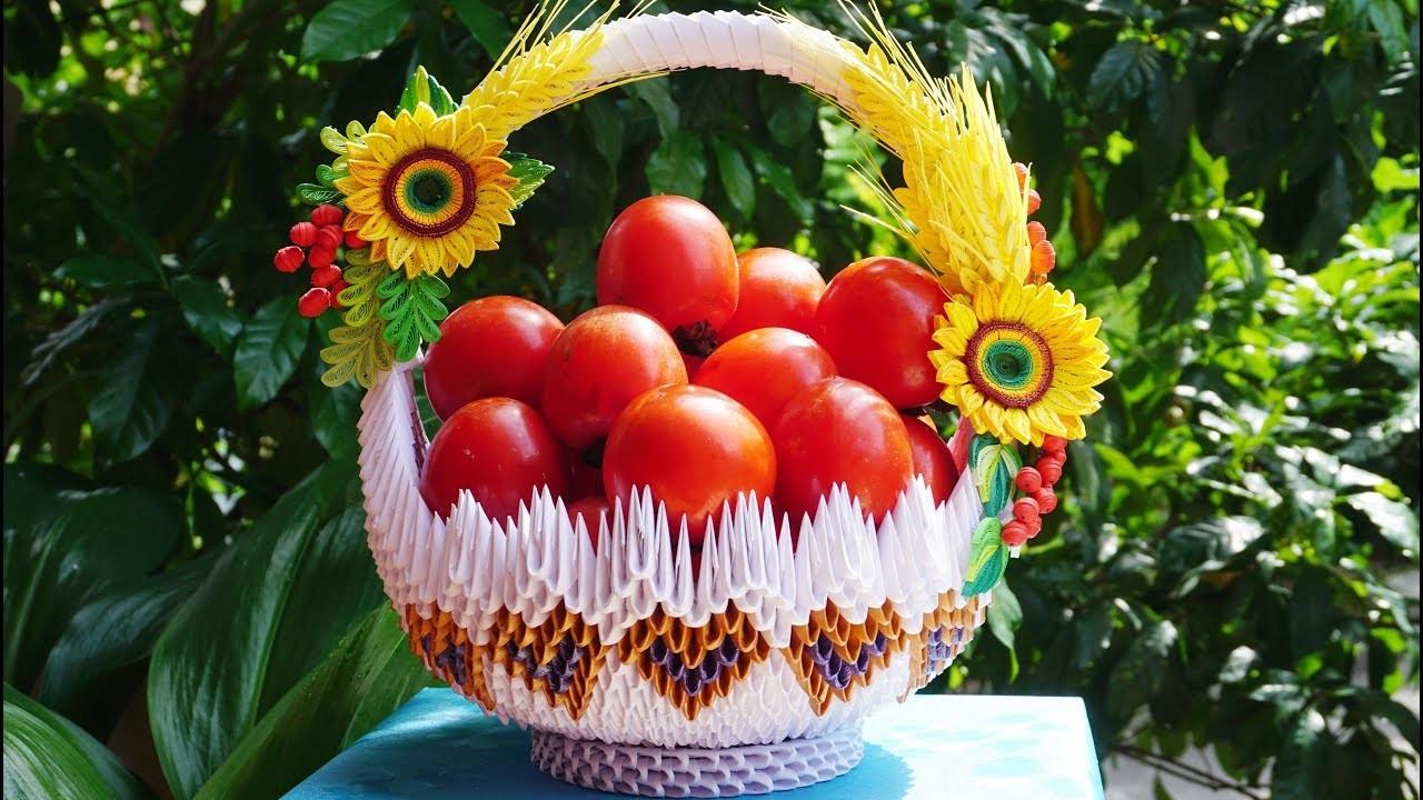How to make 3d origami flower basket diy paper flower basket how to make 3d origami flower basket diy paper flower basket handmade decoration mightylinksfo