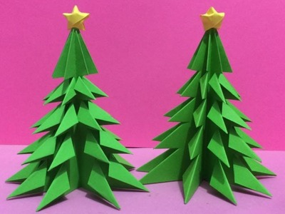 How to Make 3D Paper Christmas Tree | Making Paper Xmas Tree Step by Step | DIY-Paper Crafts