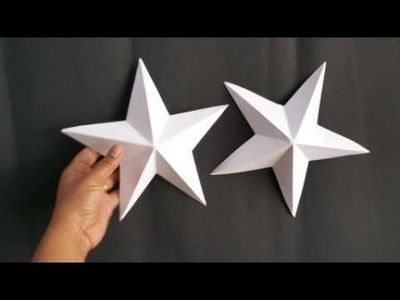 HOW TO MAKE 3D STAR EASILY WITHIN 2 MINUTES.DIY CHRISTMAS CRAFTS