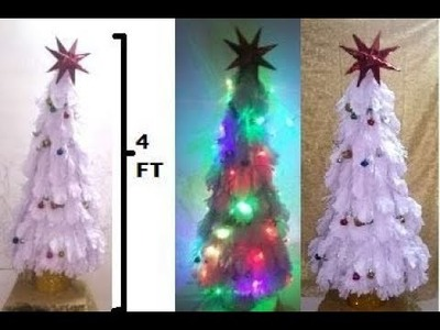 HOW TO MAKE 4 FEET  FABRIC CHRISTMAS TREE EASILY AT HOME
