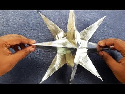 How To Make A 3D Paper Star | Xmas Day Star DIY