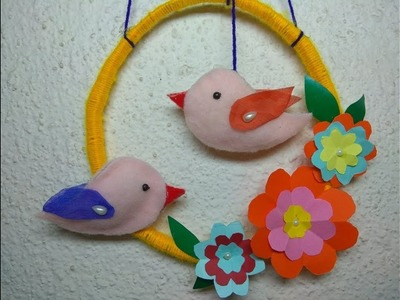 How to make a bird and wall hanging from paper at home. DIY for kids. Cloth Hacks. Making Bird
