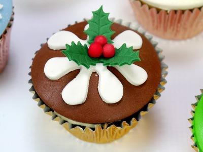 How To Make A Christmas Pudding Cupcake