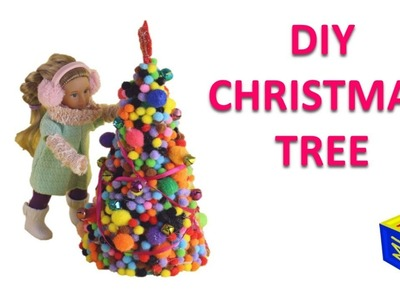 How to make a Christmas tree for your dolls. Hands-on crafts pom pom Christmas tree for kidsls 10+