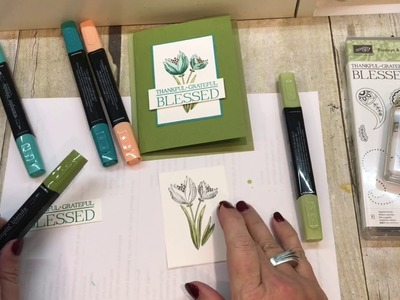 How to make a Count Your Blessings Card with Stampin Blends