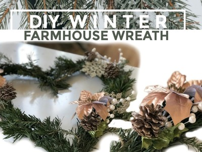 How to Make a Farmhouse Winter Wreath & GIVEAWAY I DIY I How to Cook Craft & Kids