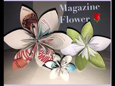 How to make a Magazine Flower. kudsudama origami