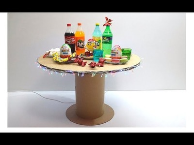 How to make a New Year's table made of cardboard for children