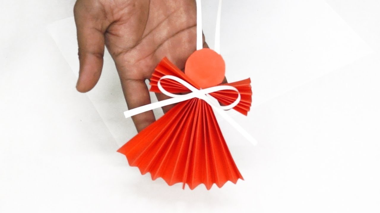 How To Make A Paper Angel, Christmas Tree Decorations, DIY