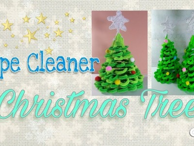 Pipe Cleaner Christmas Trees.Star How To Make A Pipe Cleaner Christmas Tree How To Make