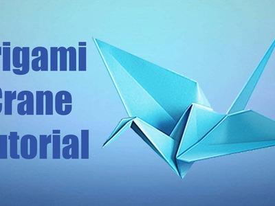 How to make a Simple Origami Crane || Origamii World Tutorial