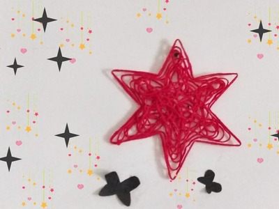 How To Make A Star With Yarn, DIY Christmas Star Ornaments