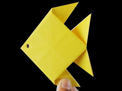 How to make a Yellow Fish with color paper | Rainbow Color Crafts