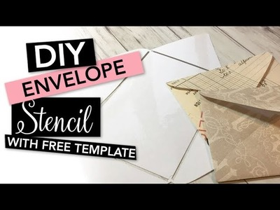 HOW TO make an Envelope Stencil with a laminator | TUTORIAL