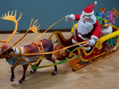 "How to make ""Christmas sleigh"" papercraft"