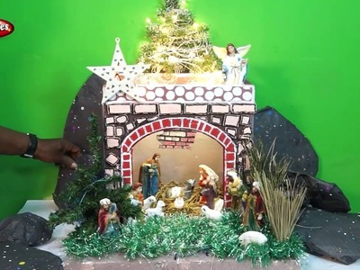 How to Make Easy Christmas Crib in Tamil - DIY Nativity Scene | CHRISTMAS CRIB MAKING | Type -3