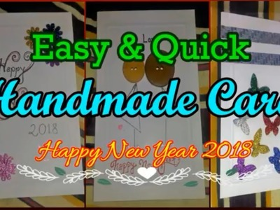 How To Make Easy Handmade Greetings Card For New Year | Happy New Year 2018