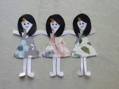 How to make easy paper doll
