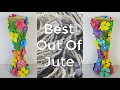 How To Make Flower Vase Using Jute | Best-Out-Of-Waste | Mr Crafts 6