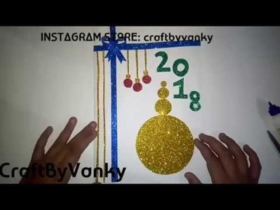 HOW TO MAKE : Happy new year card | Super easy | for children |CraftByVanky