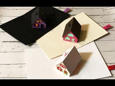 How to make Light Up Holiday 3D House Card