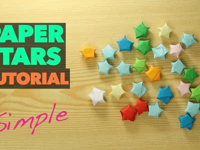 How to Make lucky Paper Star ORIGAMI. Chinese paper star VERY EASY tutorial. DIY