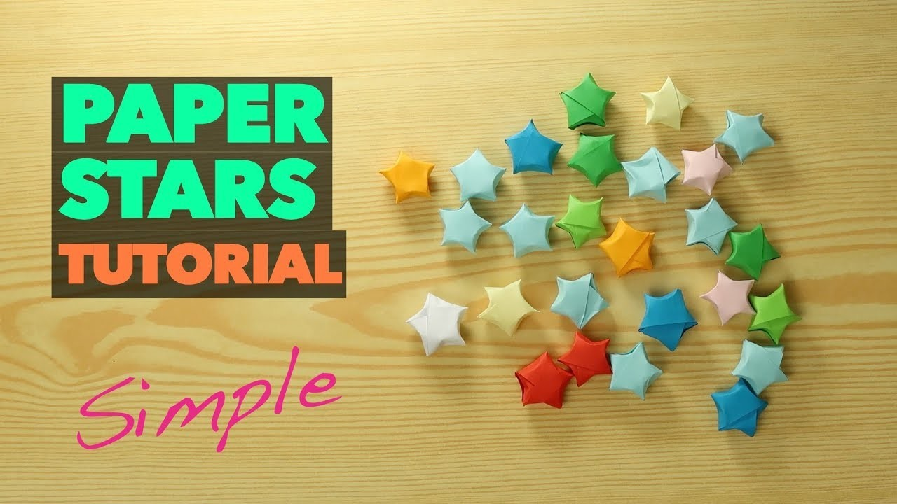 How To Make Lucky Paper Star Origami Chinese Very Easy Tutorial Diy