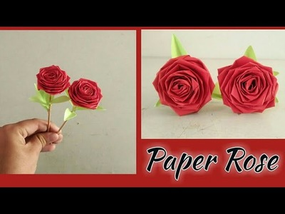 How to make most beautiful rose from paper, super easy to make.