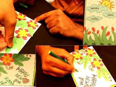 How to make new year Greeting cards by kids || #my creative hub