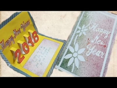 How to make new year greetings card | Happy New Year 2018 cards