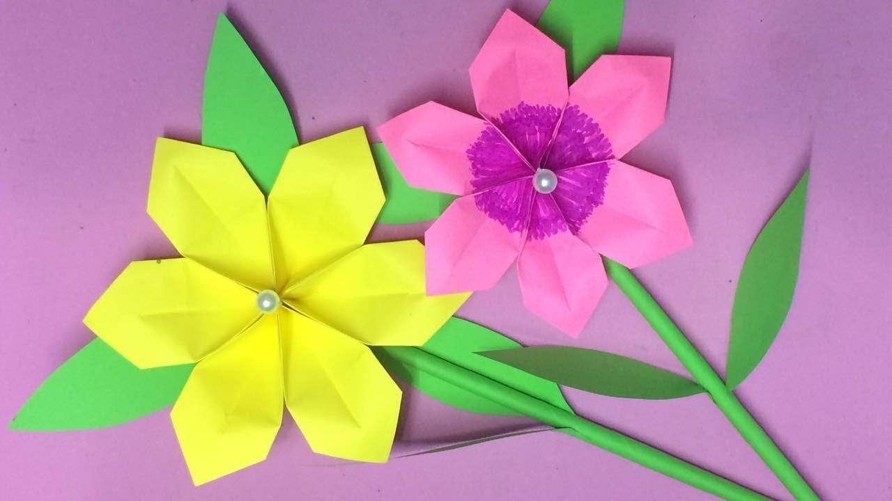 How to make origami flower with paper making paper flowers step by how to make origami flower with paper making paper flowers step by step diy paper crafts mightylinksfo
