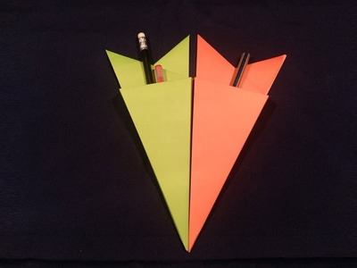 Origami How To Make Origami Pencil Holder How To Make Paper Pen