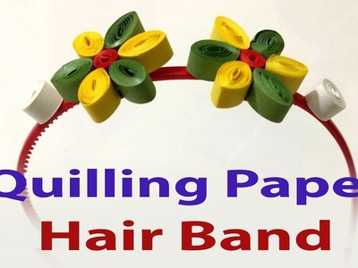 How to make paper quilled hair band, Paper Crafts Art, Merry Christmas And Happy New Year