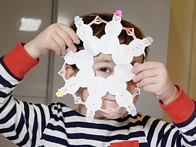 How To Make Paper Snowman Snowflake