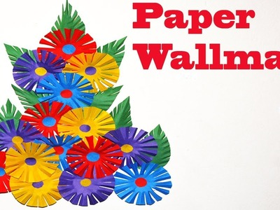 How To Make Paper Wall Hanging || DIY Paper Wall Mate Decoration Ideas