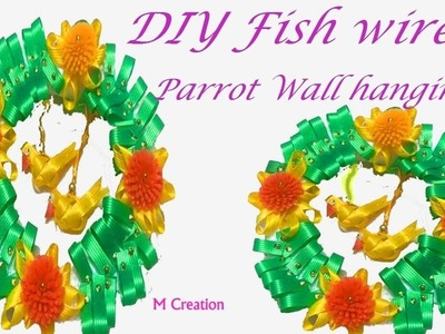 How to make parrot wall hanging.diy fish wire parrot wall hanging