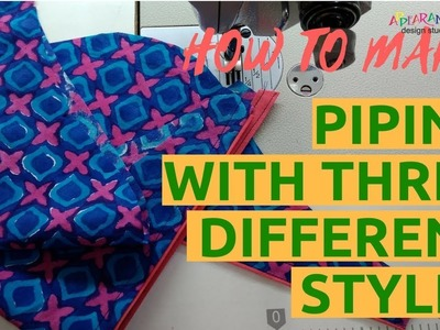 How to make piping with three different styles