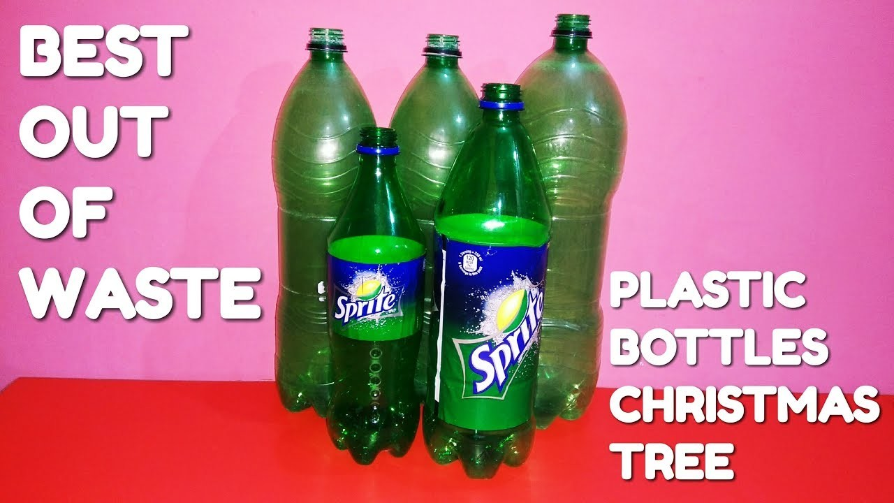 How to make plastic bottles into a christmas tree for Best out of plastic