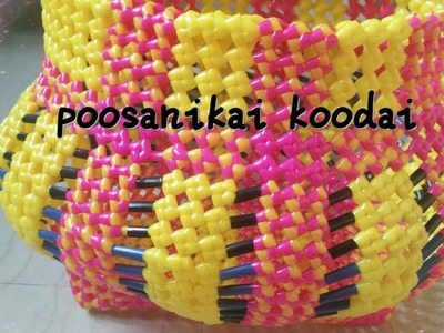 How To Make POOSANIKAI KOODAI OR(pumpkin shape basket) part1